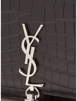 Kate Small Crocodile Effect Leather Cross Body Bag by Saint Laurent