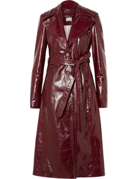 Indiana Patent Textured Leather Trench Coat by Magda Butrym