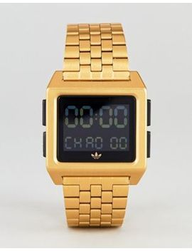 Adidas Z01 Archive Digital Bracelet Watch In Gold by Adidas