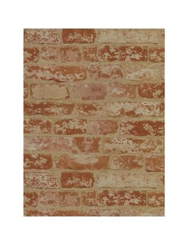 York Wallcoverings Wall In A Box Bz9206 Stuccoed Brick Wallpaper    Ultra Removable by Wall In A Box