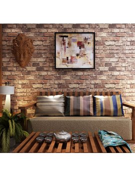 Blooming Wall: Cultural Faux Rustic Tuscan Brick Wall Wallpaper 3d For Walls Wall Paper Roll, 20.8 In32.8 Ft=57 Sq.Ft,Red by Blooming Wall