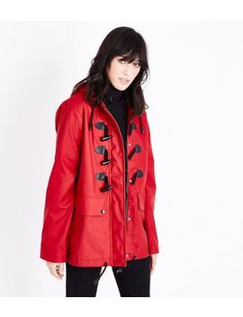Red Toggle Front Anorak by New Look