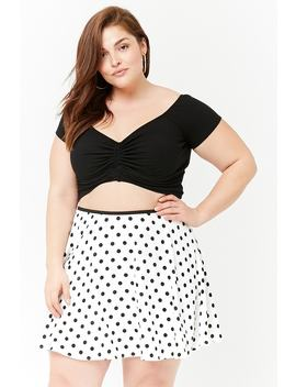 Plus Size Polka Dot Mini Skirt by Forever 21