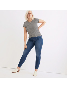 "Short 9"" High Rise Skinny Jeans In Patty Wash by Madewell"