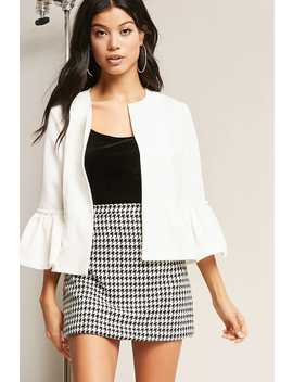 Trumpet Sleeve Jacket by Forever 21