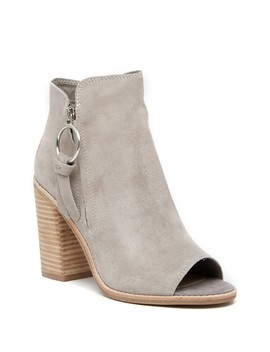 Luis Suede Open Toe Bootie by Dolce Vita