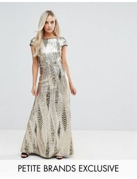 Tfnc Petite Allover Sequin Maxi Dress With Fishtail by Tfnc