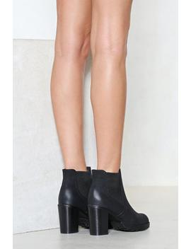 Got Yourself A Heel Vegan Leather Boot by Nasty Gal
