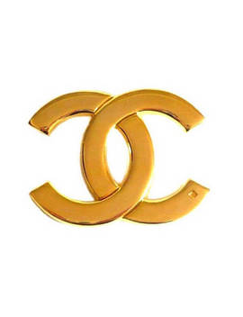 Chanel ~ Authentic Vintage Gold Plated Brooch Logo  Cc by Etsy