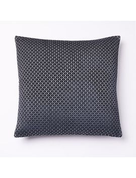 Honeycomb Velvet Pillow Cover   Midnight by West Elm