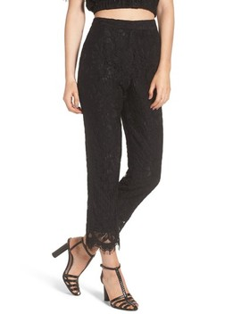 Rennes High Waist Crop Lace Pants by Wayf