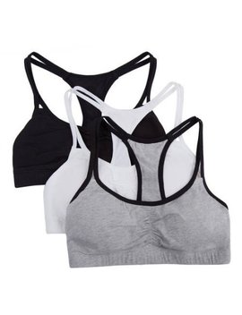 Fruit Of The Loom Girls' Cotton Stretch Sports Bra 3 Pack by Fruit Of The Loom