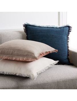 Textured Silk Fringe Pillow Covers by West Elm