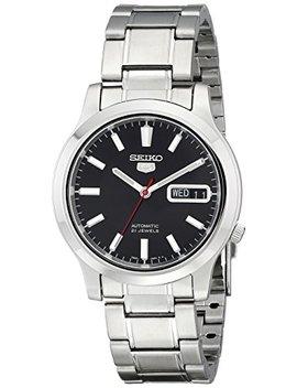 Seiko Men's Snk795 Seiko 5 Automatic Stainless Steel Watch With Black Dial by Seiko