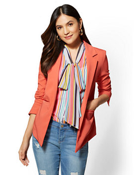 7th Avenue   Coral Open Front Jacket by New York & Company