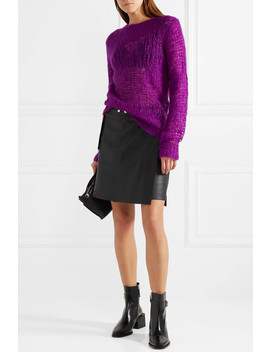 Open Knit Mohair Blend Sweater by Helmut Lang