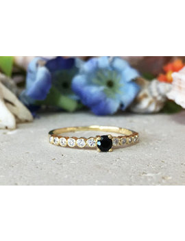 20 Percents Off  Sale!! Black Onyx Ring   Clear Quartz Ring   T Iny Ring   Stack Ring   Bezel Set   Crystals Ring   Half Eternity Ring by Etsy