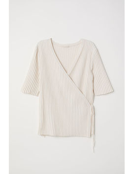 Rib Knit Wrapover Top by H&M