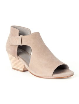 Eileen Fisher Iris Tumbled Nubuck Side Cut Out Strap Peep Toe Stacked Heel Shooties by Eileen Fisher