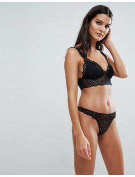 Asos Rita Basic Lace Mix & Match Moulded Triangle Set In Black by Asos