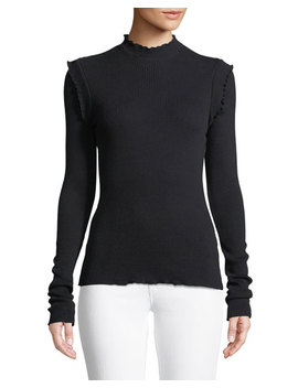 The Ruffle Rib Knit Top by Current/Elliott