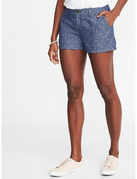 "Relaxed Mid Rise Linen Blend Everyday Shorts For Women (3 1/2"") by Old Navy"