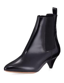 Dawell Low Heel Leather Boot by Isabel Marant