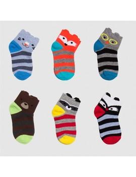 Toddler Boys' 6pk Critter Low Cut Dress Socks   Cat & Jack™ by Cat & Jack™