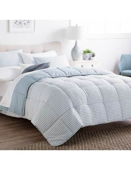 Brookside Striped Reversible Chambray Down Alternative Comforter Set by Brookside