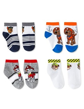 Paw Patrol Toddler Boys' 4pk Low Cut Socks   Multicolored 2 T/3 T by Nickelodeon