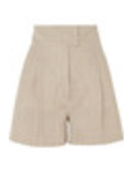 Pleated Wool Blend Shorts by Casasola
