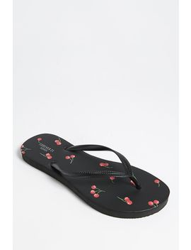 Cherry Print Flip Flops by Forever 21