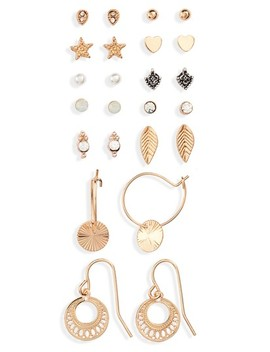 Set Of 12 Fine Earrings by Topshop