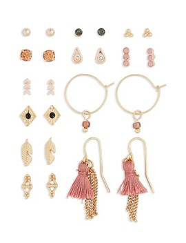 Set Of 12 Stud & Drop Earrings by Topshop