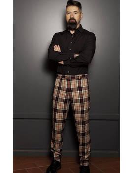 Man How Burberry Men's Tartan Plaid Fabric Men Pants Pants Pants Original French Creation Really Really Soft by Kokkino Fashion