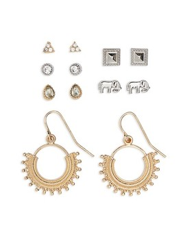 Set Of 6 Stud & Hoop Earrings by Topshop