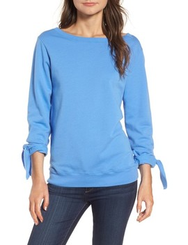 Tie Sleeve Sweatshirt by Hinge