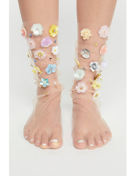 Floral Tulle Anklet by Free People