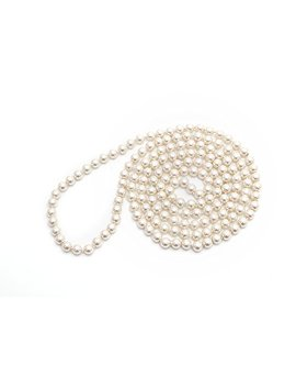 "Long Faux Pearls Flapper Beads Cluster Pearl Necklace 49"" For Women by Lily L"