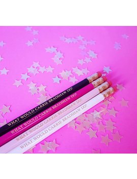 What Would Carrie Bradshaw Do? Quote Pencils   Sex In The City Slogan Pencils Stocking Filler Stocking Stuffer  Stationery  School Supplies by Etsy