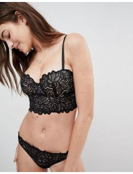 asos-amelia-paisley-lace-long-line-padded-underwire-bra by asos-collection