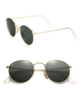 50 Mm Round Sunglasses by Ray Ban