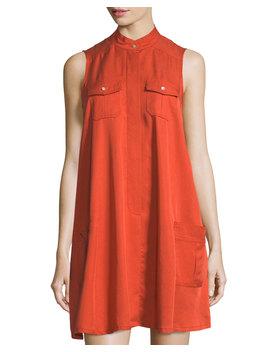 Sleeveless Swing Shirtdress by Neiman Marcus