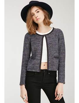 Marled Knit Jacket by Forever 21
