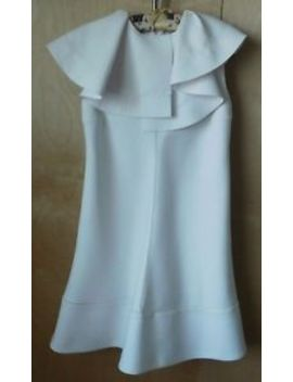 Chloe White Fit & Flare Dress Wide Collar Size 2 4 Lovely! by Chloé
