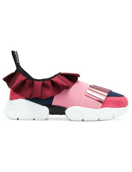 Low Ruffle Sneakers by Emilio Pucci