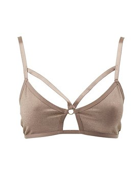 Glitter Caged Bralette by Charlotte Russe