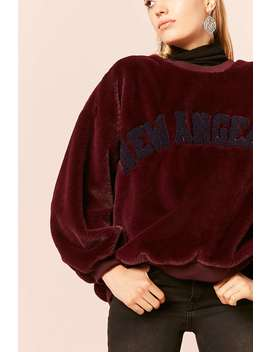 New Angeles Plush Sweatshirt by F21 Contemporary