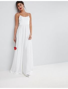 Asos Bridal Maxi Dress With Square Neck by Asos Collection