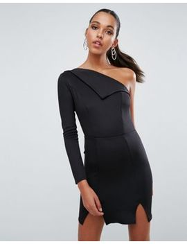 Asos Double Split One Shoulder Mini Dress by Asos Collection
